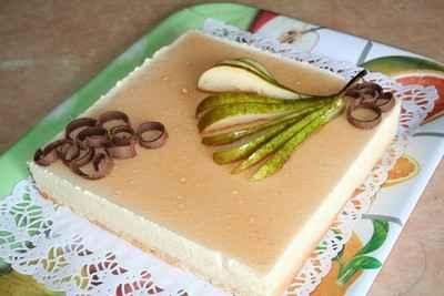 Bavarois Poire-vanille-rhum - Photo par sophieleb