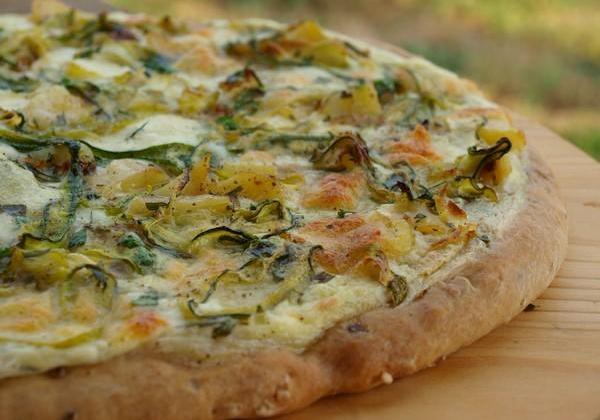Pizza blanche aux courgettes - Photo par Alberie26