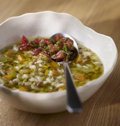Soupe de lentilles et de riz - Photo par Monini
