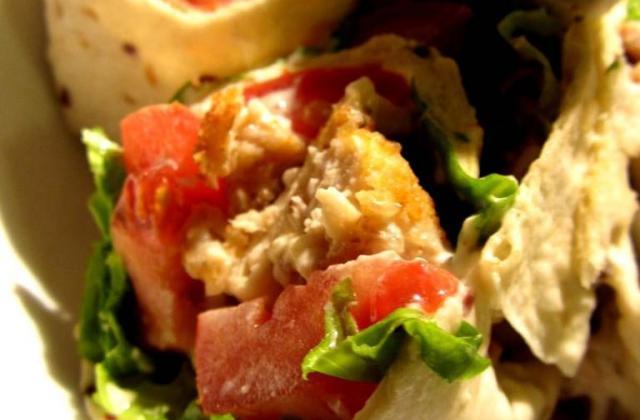 Wrap au poulet croustillant sauce au raifort - Photo par membre_253695