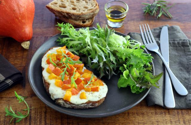 Tartines au potimarron et mozzarella - Photo par Silvia Santucci