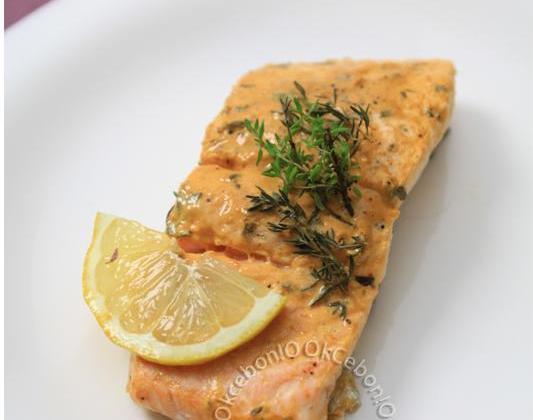 Saumon à la moutarde et au thym - Photo par Clovis