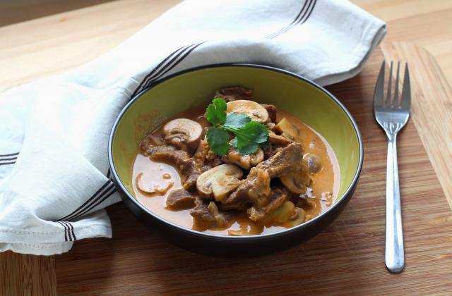 Bœuf stroganoff facile au Cuisine Companion - Photo par Silvia Santucci