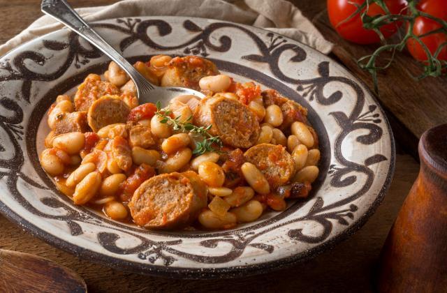 Cassoulet réconfortant à la tomate et haricots blancs au Cookeo - Photo par 750g