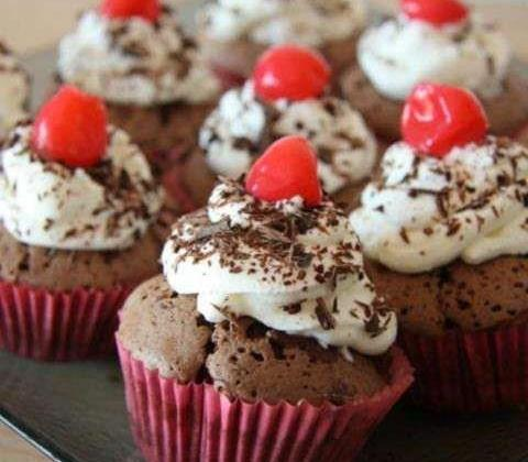 Cupcakes Forêt noire - Photo par aurelie tizi cooks