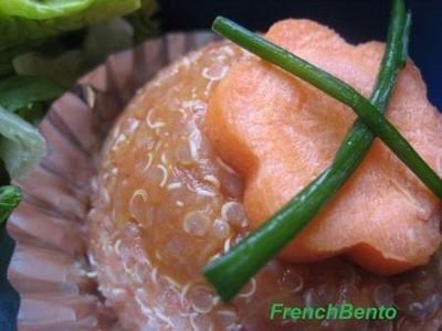 Le flan quinoa/ lentille rose à la tomate - Photo par frenchf