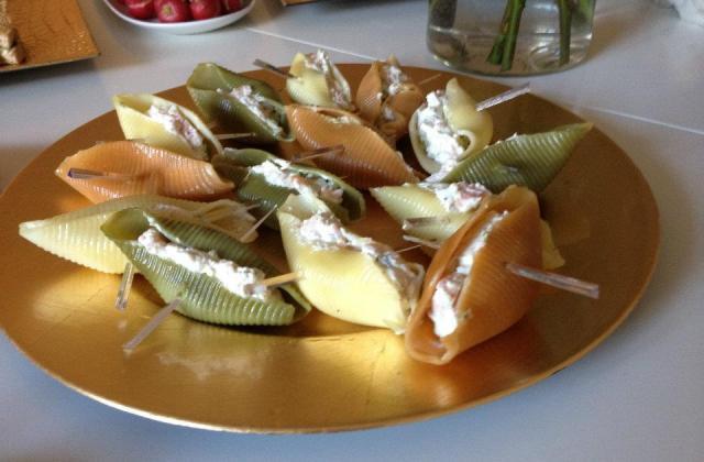 Conchiglioni farcies au saumon crevettes - Photo par speedyI