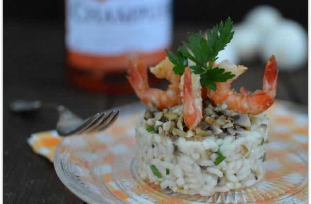 Risotto Rosé - Pamplemousse et Champignons - Photo par cuisinertoutsimplement
