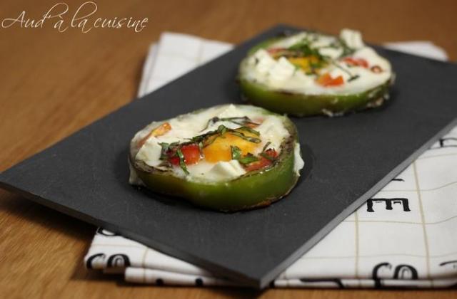 Œufs en cocotte de poivron - Photo par Aude à la cuisine