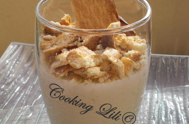 Panna cotta noix de coco et son crumble de p'tit Lu® - Photo par Cooking lili