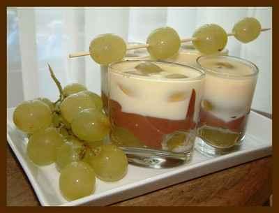Gelée aux chocolats et raisins au rhum - Photo par anne53