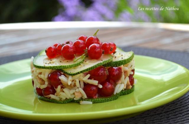 Salade de riz au thon, courgette et groseilles rouges - Photo par Communauté 750g