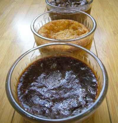Trio de crèmes noir / cardamome, praliné / orange, blanc / Earl Grey - Photo par Celine-BlogCommeuneBulle
