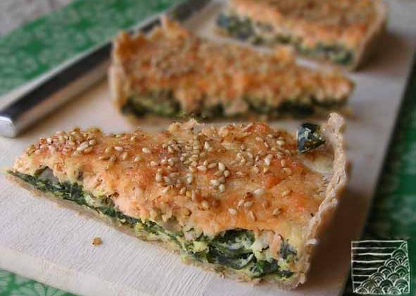 Tarte au saumon et algue wakamé - Photo par mathilmW
