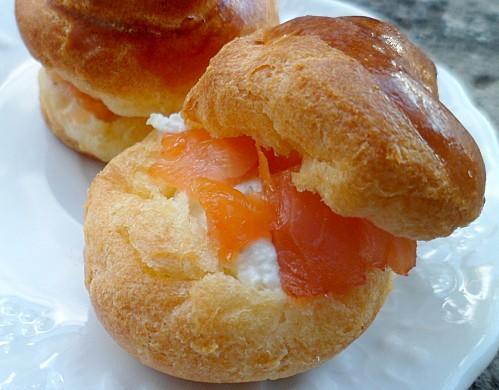 Brioche au cottage cheese et saumon fumé - Photo par chrystC