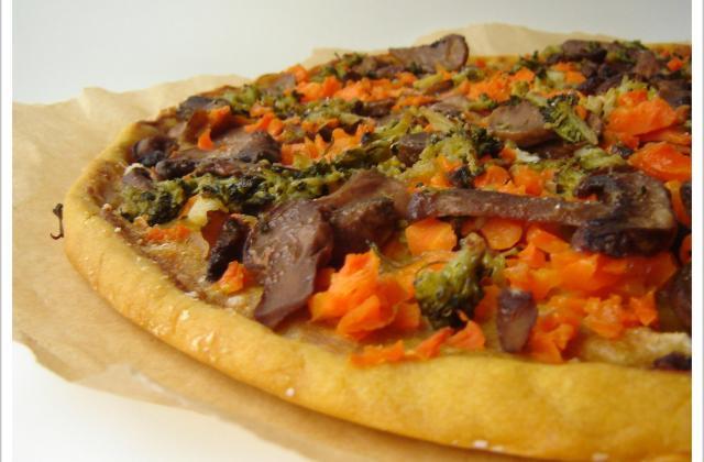 Ma pizz' à tarte aux p'tits légumes - Photo par patidou