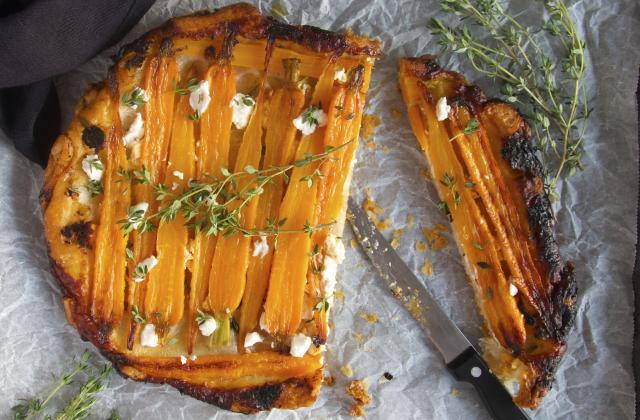 Tarte tatin aux carottes feta ricotta - Photo par Bérengère