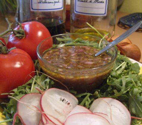 Vinaigrette aux échalotes - Photo par perrine