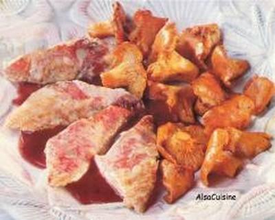 Filets de rougets et fricassée de girolles - Photo par PSCHMITT