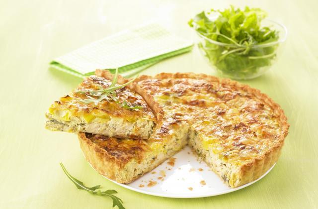 Quiche aux poireaux et au tofu soyeux - Photo par Soy