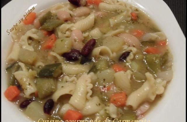 Soupe au pistou et jarret demi-sel - Photo par Carmen