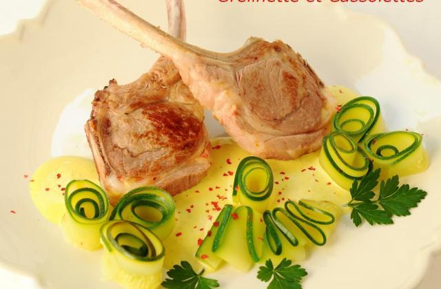 Côtes d'agneau aux tagliatelles de courgettes, sauce curry - Photo par Agneau Presto