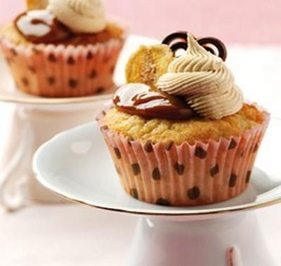 Cupcakes banane-confiture de lait - Photo par Gourmandises45