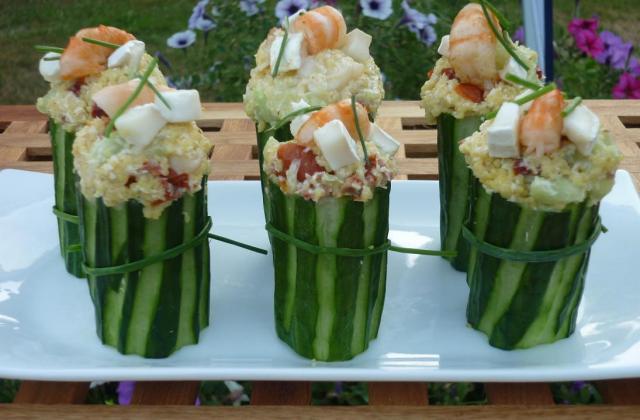 Concombre farci de gambas et de couscous - Photo par janssens.brigitte