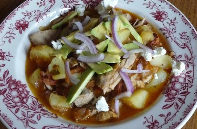 Tinga Poblana, ragoût de porc aux piments fumés à la mode de Puebla - Photo par sylvaigen