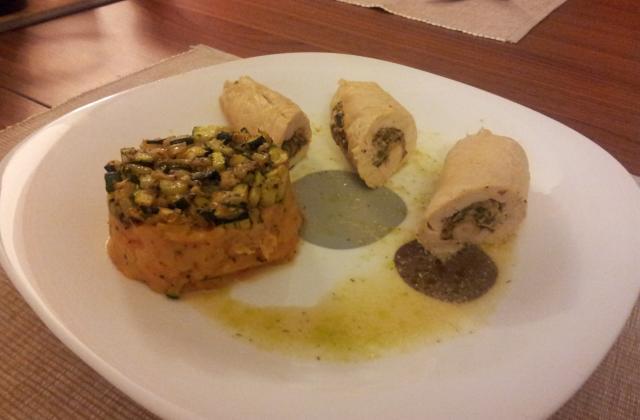 Roulades de poulet farcies de poivron et st-Moret - Photo par dimapod