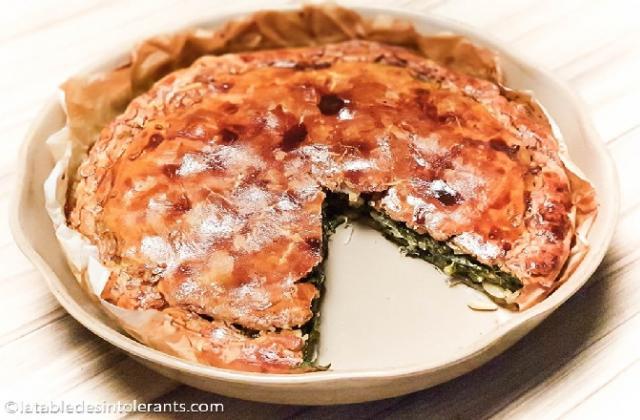 Tourte aux blettes et aux épinards sans gluten ni lactose ni oeuf - Photo par La  Table des Intolérants