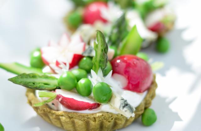Tartelettes aux légumes printaniers et roquefort Papillon - Photo par Invité