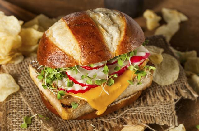 Burger veggie au tempeh - Photo par 750g