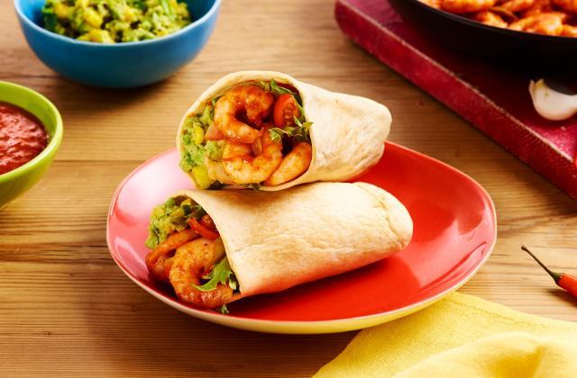 Tortilla Pockets aux crevettes, guacamole et maïs - Photo par Old El Paso