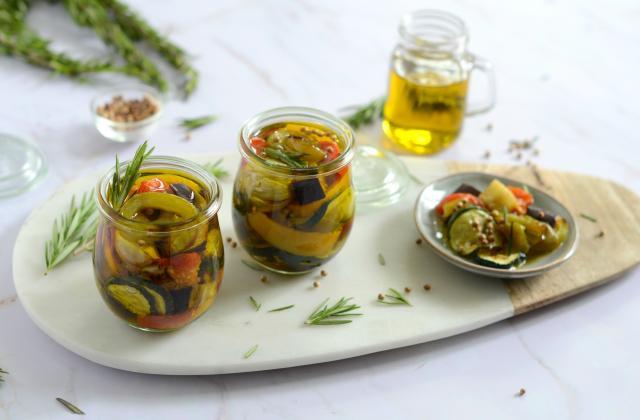 Légumes marinés à l'huile d'olive - Photo par Nadia Paprikas