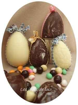 Oeufs de Pâques au chocolat - Photo par lapopotedelolo