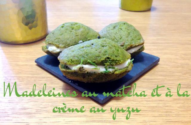 Madeleines au matcha et à la crème au yuzu - Photo par Carottesjaunestomatesroses