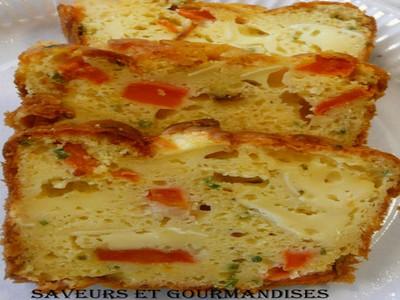 Cake au brie et à la carotte - Photo par Nadji.