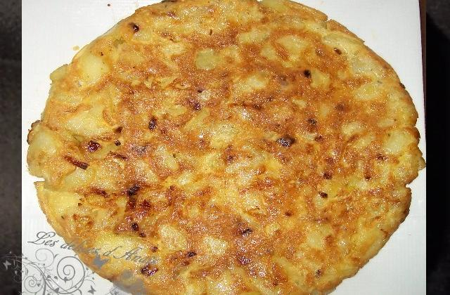Tortilla à l'oignon - Photo par les delices danais