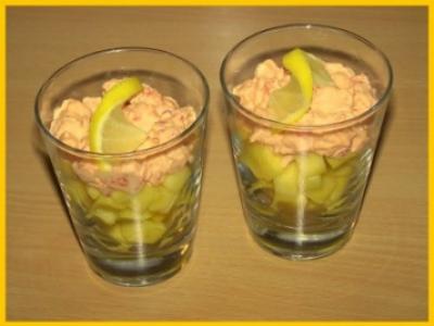 Cocktail d'écrevisses à la mangue - Photo par biscottine