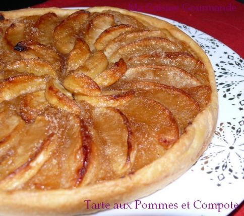 recette tarte aux pommes sur lit de compote pomme vanille tonka 750g. Black Bedroom Furniture Sets. Home Design Ideas