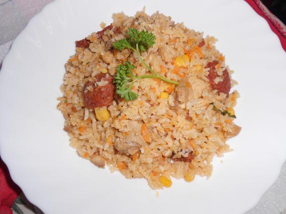 recette riz au chorizo et poulet not e 4 1 5. Black Bedroom Furniture Sets. Home Design Ideas