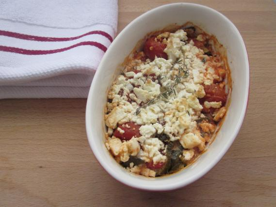 recette gratin de courgettes tomates cerises et f ta 750g. Black Bedroom Furniture Sets. Home Design Ideas
