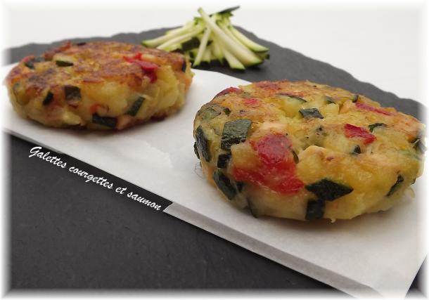 recette galette de courgettes aux d s de saumon not e. Black Bedroom Furniture Sets. Home Design Ideas