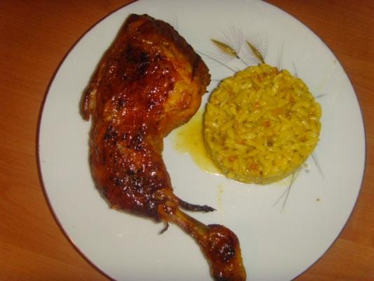 Recette cuisse de poulet et riz avec sauce 750g - Cuisse de poulet en sauce ...