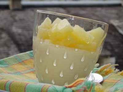Recette panna cotta la noix de coco et l 39 ananas 750g - Panna cotta noix de coco ...