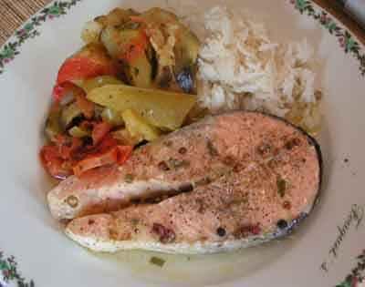 Recette darnes de saumon aux 5 baies 750g - Comment cuisiner du saumon surgele ...