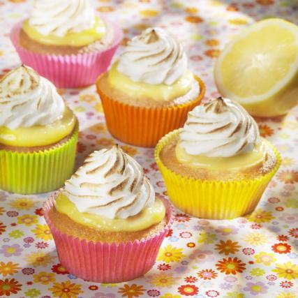 Recette cupcake au citron meringu not e 4 5 - Cuisson meringue four chaleur tournante ...