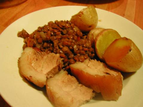 Recette jarret de porc aux lentilles 750g - Cuisiner le jarret de porc ...