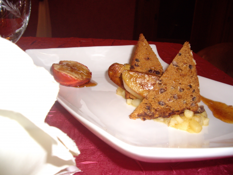 Recette foie gras sur son nid reinettes foncdantes 750g - Preparer son foie gras ...